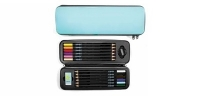 VF 30112 XONEX Aqua Art Pod : 9.5x3.25 with 12 colored pencils