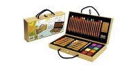 VF 30125 XONEX Just Art Set : with 18 Pencils - 12 Oil Pastels - 8 Watercolors