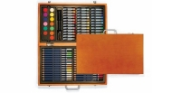 VF 30213 XONEX Wooden Art Set : with 36 Pencils - 16 Markers - 36 Oil Pastels - 14 Watercolors -