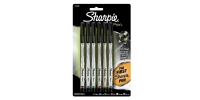 SS 01011 6-Pack SHARPIE PEN BLACK BLUE GREEN ORANGE PURPLE RED 1751690 - $0.34 ea -