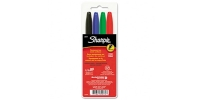 SS 30074  4-Pack SHARPIE FINE PERMANENT MARKER POUCH BLACK BLUE GREEN RED 30074 - $0.65 ea -