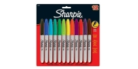 SS 30075 12-Pack SHARPIE FINE PERMANENT MARKER AQ BE BK BL BR GR LM OR PU RD TQ YE 30075PP - $0.88 ea -