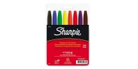 SS 30078  8-Pack SHARPIE FINE PERMANENT MARKER POUCH BK BL BR GR OR PU RD YE 30078 -$0.63 ea -