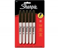 SS 30665 SHARPIE  5-Pack FINE PERMANENT MARKER BLACK 30665PP - $0.47 ea -