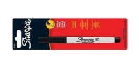SS 37101 SHARPIE  1-Pack ULTRA FINE PERMANENT MARKER BLACK 37101PP