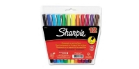 SS 37172 12-Pack SHARPIE ULTRA FINE PERMANENT MARKER POUCH AQ BE BK BL BR GR LM OR PU RD TQ YE - $0.83 ea -  37172