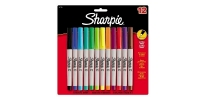 SS 37175 SHARPIE 12-Pack ULTRA FINE PERMANENT MARKER AQ BE BL BL BR GR LM OR PU RD TQ YE 37175PP - $0.57 ea -
