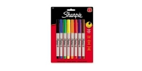 SS 37600  8-Pack SHARPIE ULTRA FINE PERMANENT MARKER BL BL BR GR OR PU RD YE 37600PP - $0.94 ea -