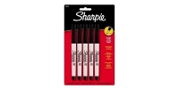 SS 37665 SHARPIE  5-Pack ULTRA FINE PERMANENT MARKER BLACK 37665PP - $0.47 ea -