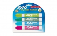 SS EXPO 81029 Low Odor Dry Erase Marker Chisel Tip Classic Colors Assorted 4/Set *